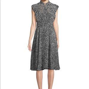 Club Monaco Saffra dress in black/white dot print